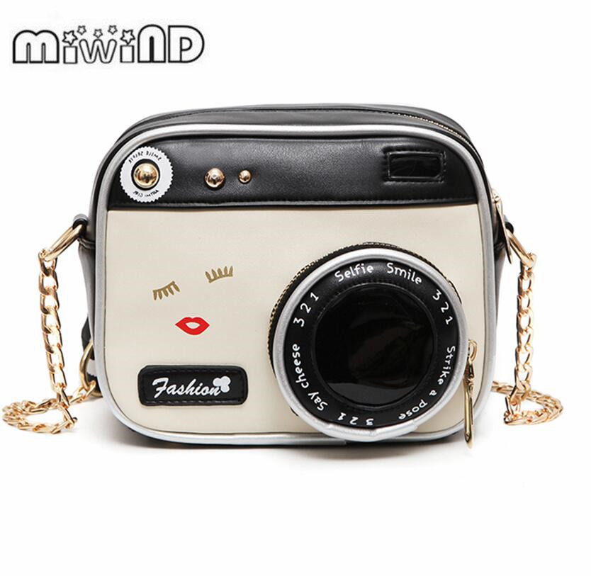 MIWIND Small bags 2017 girl vintage fashion lady camera shoulder bag women handbag chain messenger female crossbody bag miwind f graffiti istitching chain messenger chain bag women s premium lady oblique crossbody shoulder bags famous brands c c