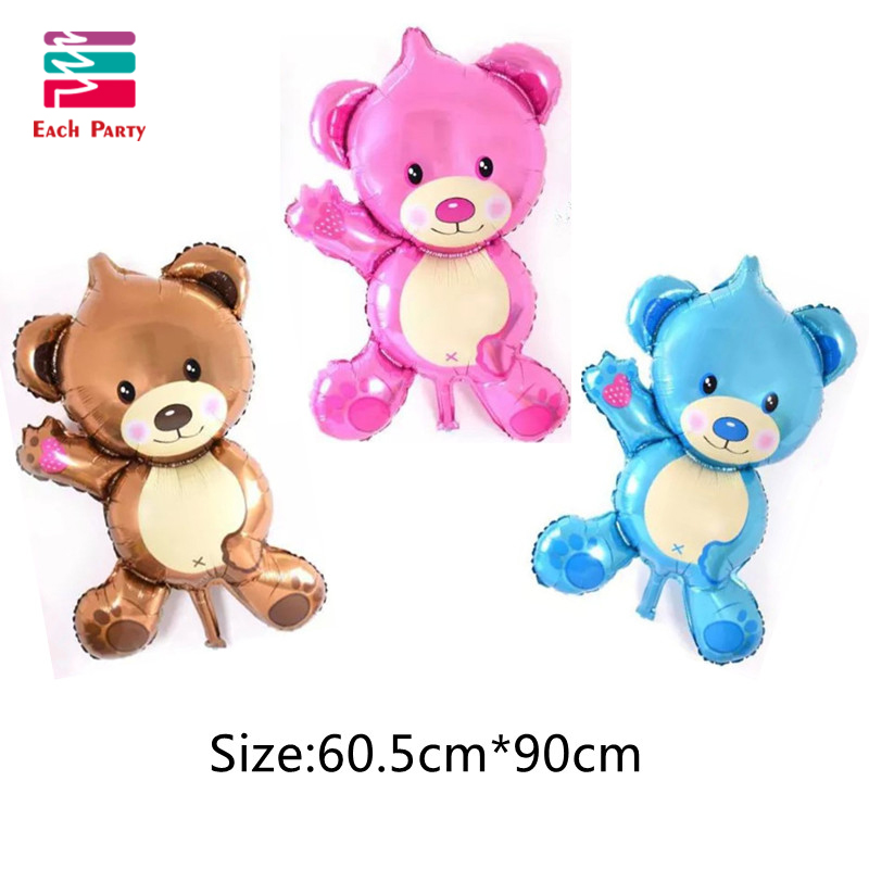 36 inch Giant Teddy Bear Cartoon folie ballonnen Kids cartoon Vorm - Feestversiering en feestartikelen - Foto 2