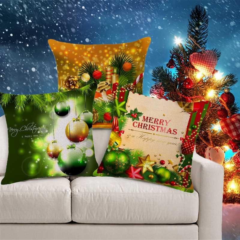 Dekorative Kissen Covers Weihnachten Dekokissen Abdeckung Shabby Chic Home Decor grün Kissen...