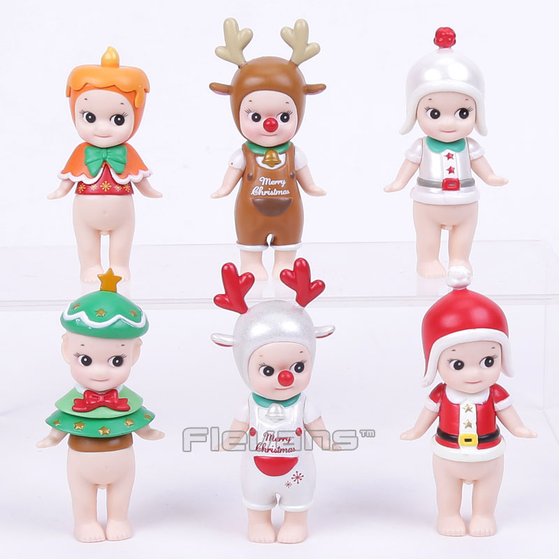 Sonny Angel Mini PVC Figure Christmas Series 6pcs/set PVC Action Figures Collectible Model Toys Dolls Kids Gifts Boxed 6 pcs set the powerpuff girls action figure toys cute cartoon blossom bubbles buttercup model pvc dolls kids christmas gift