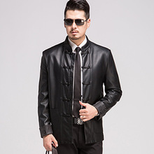 New Mens Leather Jackets And Coat High Quality Leather Jackets Men's Chinese Style Suit Jackets Large Size Jaqueta De Couro XXXL