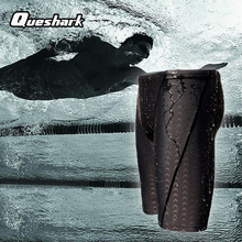 QUESHARK Water Repellent Shark skin Jammer Swimsuit Competitive Racing Men Swimwear