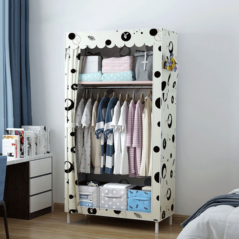 Bedroom Furniture Wardrobes Modern Fashion Cloth Wardrobe Folding Portable Diy Assembly Single Wardrobe Closet For Student Dormitory Children Room To Win A High Admiration