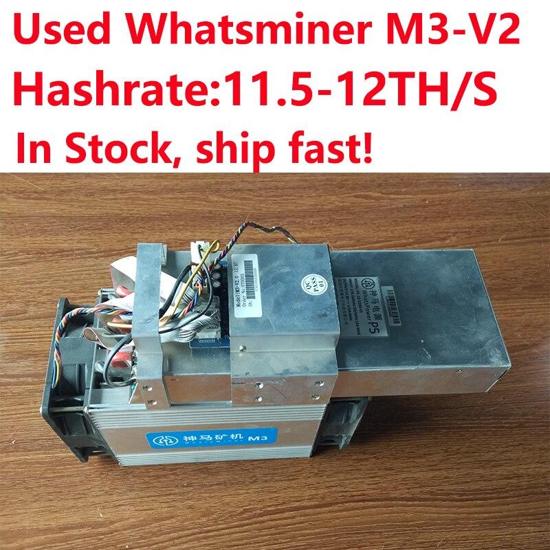 Schnell Versenden! Begeistert Freies Verschiffen Verwendet Whatsminer M3 11,5-12.5th/s Asic Bitcoin Miner Mit Netzteil In Lager