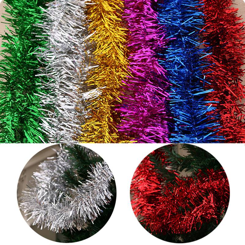 Home & Garden Beautiful 1.8m Colorful Bar Christmas Tree Omament Garland Decoration Party Supplies Encryption Wedding Holiday Decorations