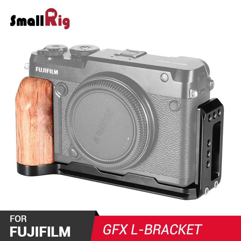 SmallRig L Bracket for FUJIFILM GFX 50R Feature with Arca Stle Quick Release Plate For Vertical or Horizontal Shooting APL2339-in Tripod Monopods from Consumer Electronics    1
