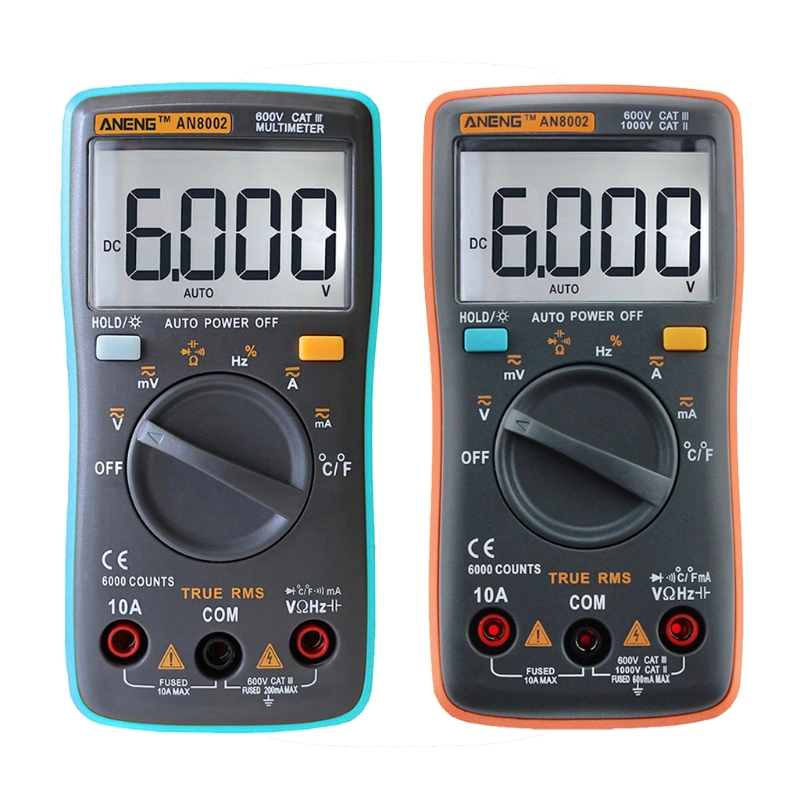 все цены на ANENG AN8002 Digital Multimeter 6000Counts AC/DC Ammeter Voltmeter Thermometer онлайн