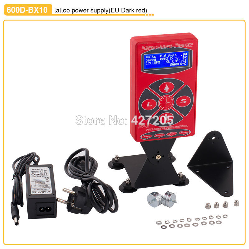 High Quality Dark Red Stand Tattoo Power Supply with Digital LCD Display Liner Shder Dual Setting for Machine Kits Free Shipping гарнитура skullcandy ink d with mic dark red s2ikhy 481