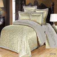 La Calidad de la moda de algodón jacquard Juego de cama de cama Duvet Cover set full twin queen king size juego de cama hoja impresa cama sp019B