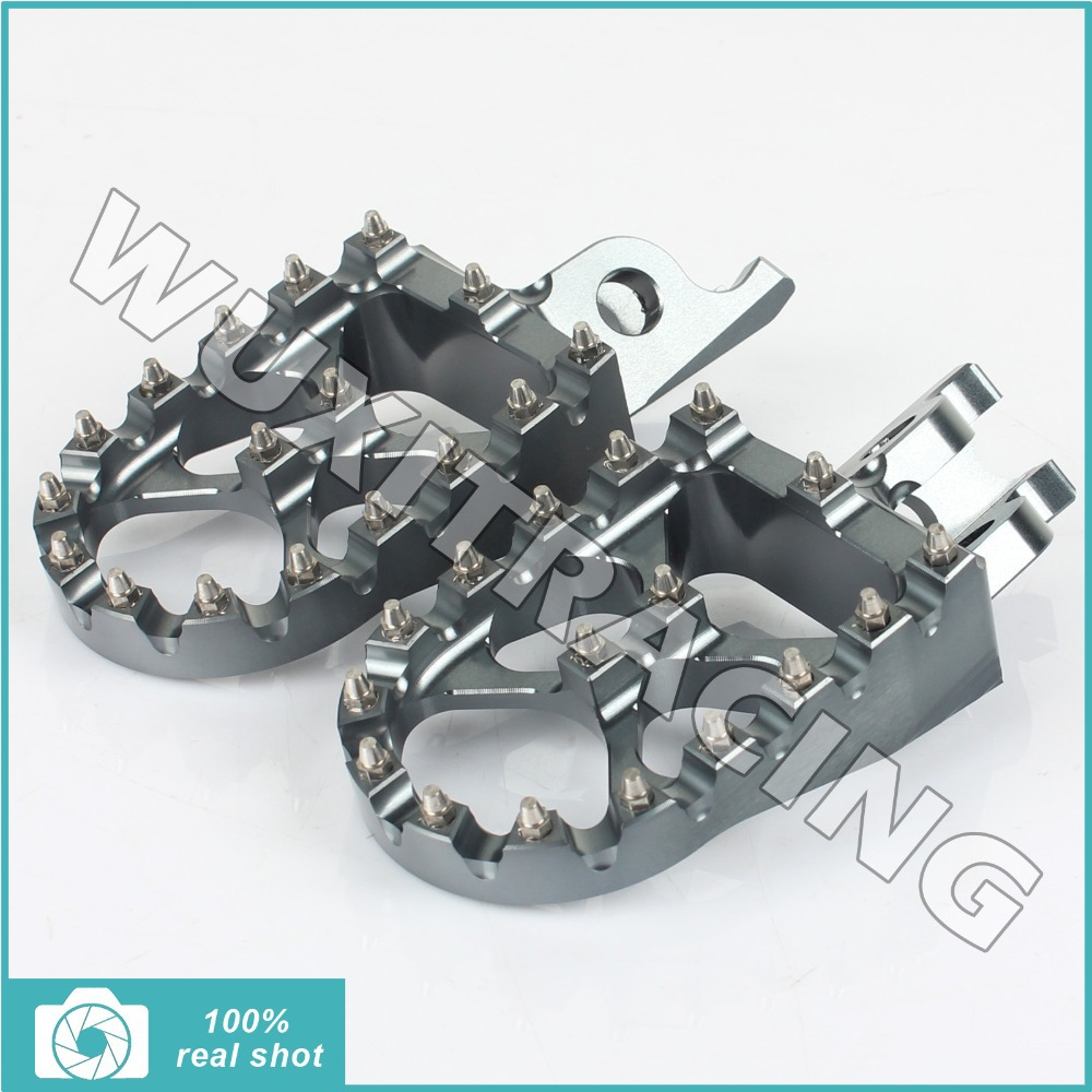 Titanium MX Motocross Wide Fat Footpegs Footrests Honda CR125 250 CRF 150 450 02 03 04 05 06 07 08 09 10 11 12 13 14 15