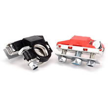 2Pcs Car Battery Terminal Connector Battery Quick Release Battery Clamps 12V
