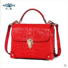 yuanyu New Alligator Skin Female handbag Thai crocodile skin oblique cross bag small square women bag
