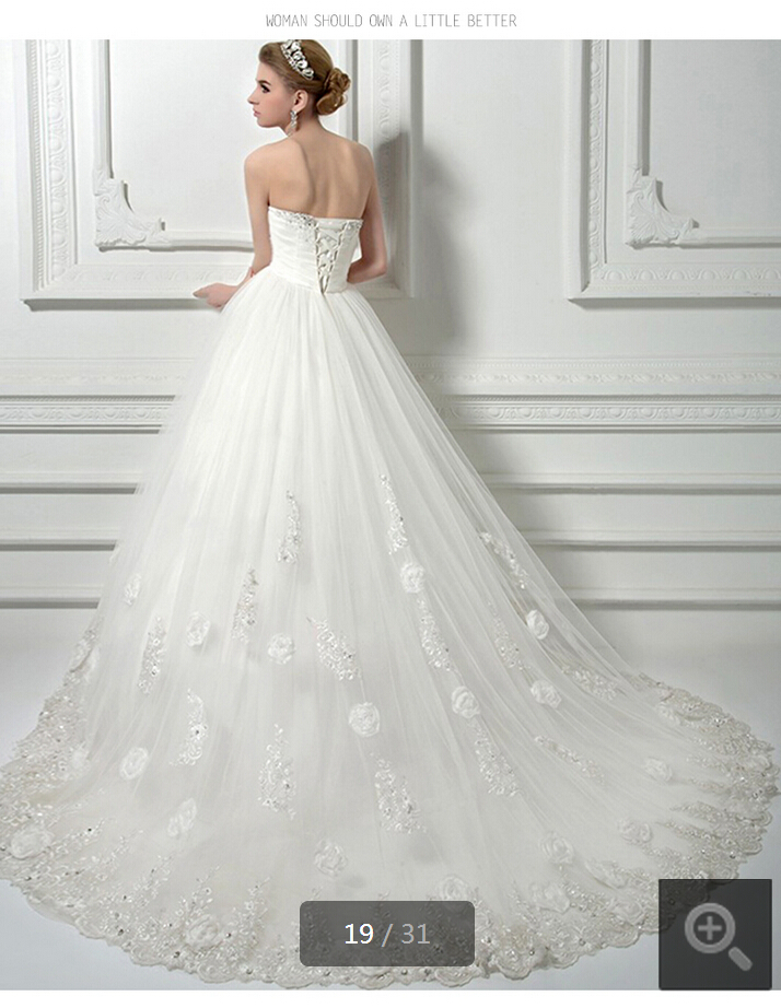 2015 stunning elegant wedding dresses ball gown strapless maternity ...