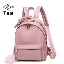 Women backpack Small Oxford mini Bow school bags bookbag Travel Female designer famous brand women 2019