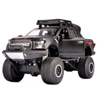 4 Colors 1:32 Alloy Car Model for Ford Raptor F150 Pickup Truck Big Foot Refit Series Metal Toy Car with Acousto optic Boy Gift