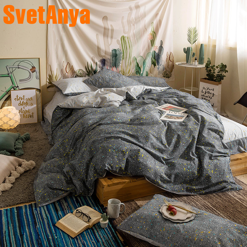 Svetanya Print Sheet Pillowcase Duvet Cover Sets 100% Cotton Bedclothes Twin Double Queen King Size Bedding SetSvetanya Print Sheet Pillowcase Duvet Cover Sets 100% Cotton Bedclothes Twin Double Queen King Size Bedding Set