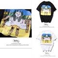 Ripndip Camiseta de Los Hombres de Alta Calidad 1:1 Pirámide Faraón Hip Hop Marca de Moda de Verano La Ropa de Algodón Gato de Dibujos Animados Ripndip Tee-camisas