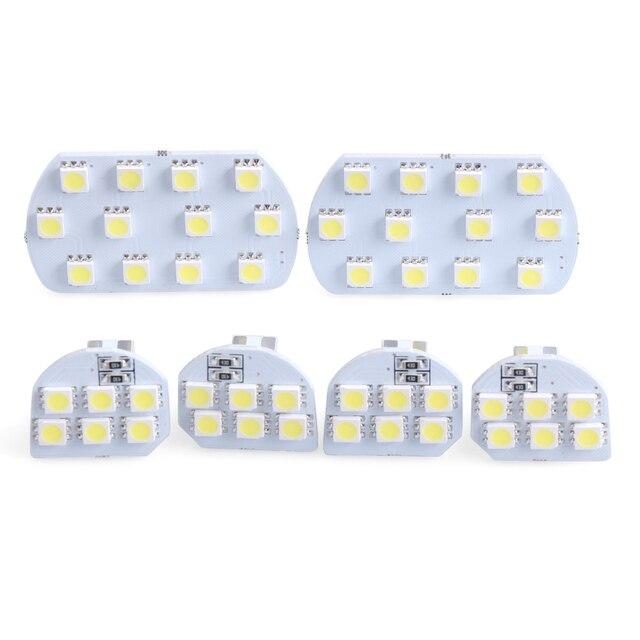 6pcs/set Super Bright Led Interior Dome&Map Reading Light Lamp Interior Light For Peugeot 206 307 308 3008 408 508 Citroen C5