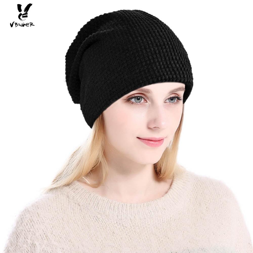 VBIGER Unisex Warm Knitted Beanies Skullies Winter Hat Cap Slouchy Beanie for Men Women skullies
