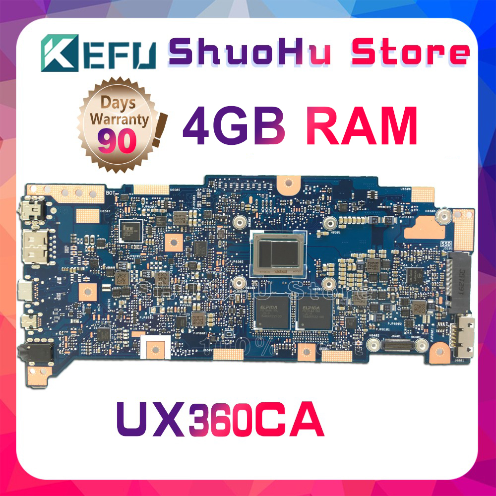 KEFU For ASUS ZenBook UX360CA UX360C UX360 4G Memory Laptop Motherboard Tested 100% Work Original Mainboard
