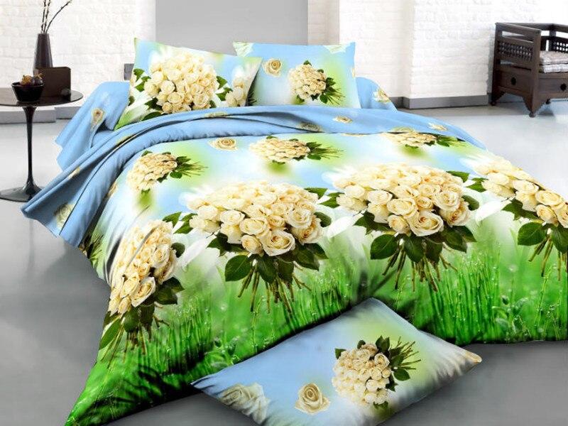 Home Textil/3d Oil Print/mint Green Bedding/ocean Blue