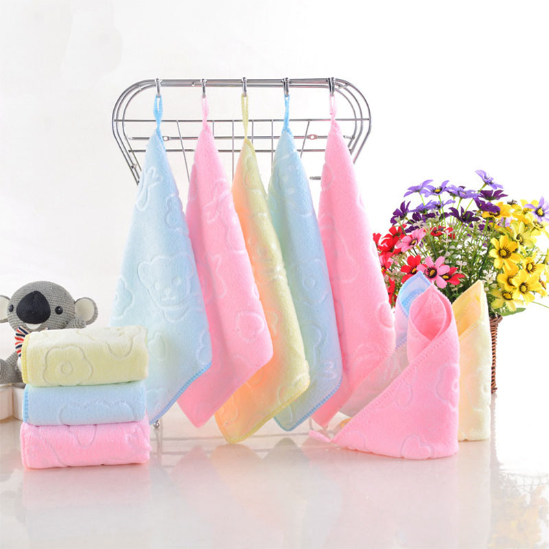Summitkids Towel For Baby Printing Children Towels Super Soft Baby Care Towel Strong Absorbent Baby Bathing Towel 25*25 cm ...