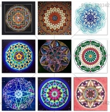 New DIY 5D diamond Painting religious Colorful mandala Cross Stitch embroidery mosaic Full Square home decor