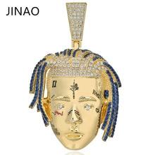 Moda kübik zirkon buzlu Out zinciri altın XXXTentacion kolye kolye Hip Hop takı bildirimi kolye erkekler kadınlar için hediyeler