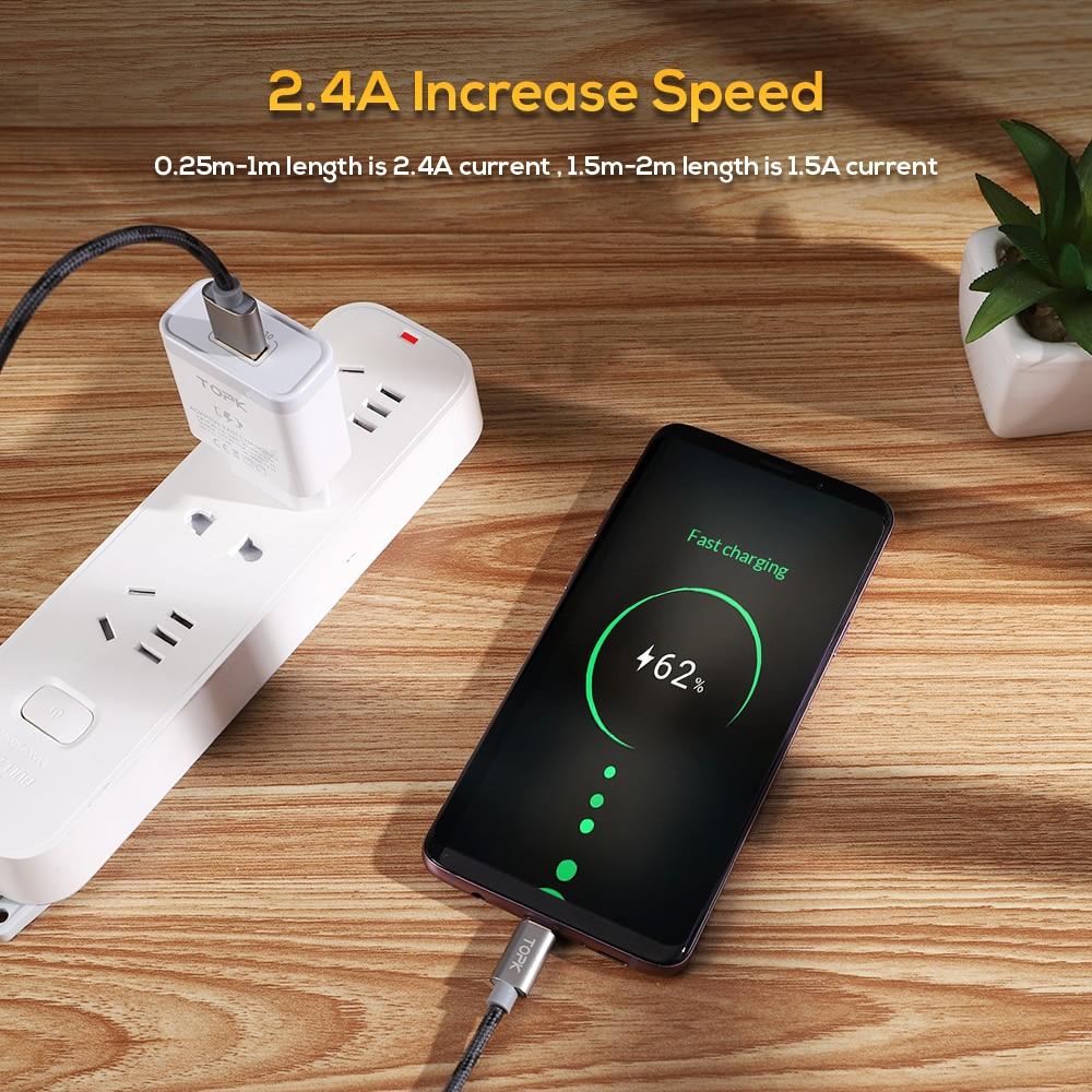 TOPK բնօրինակի միկրո USB մալուխ - Բջջային հեռախոսի պարագաներ և պահեստամասեր - Լուսանկար 3
