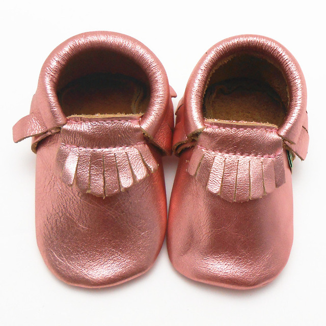 Hot Sell Shiny Pink Girls Cow Leather Sapato Baby Sneakers Baby Moccasins  Designer Baby Shoes Toddler First Walker Free Shipping 4fe63d9a761f