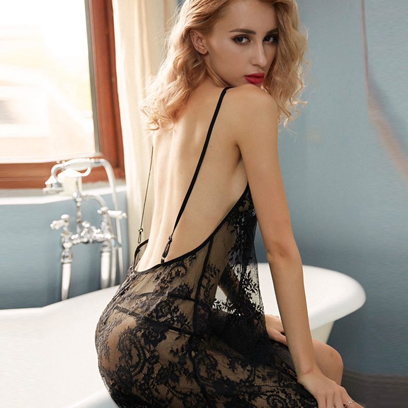 2019 summer Women Sexy Erotic Lingerie Nightwear Underwear Sleepwear Lace BabyDoll Dress G string Baby Doll Exotic Apparel