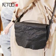 AETOO Female bag, hundred large capacity black cowhide bag, college wind soft leather shoulder bag стоимость