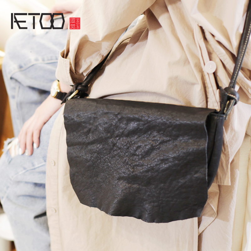 Aetoo 여성 가방, 백 대용량 검은 소 가죽 가방, 대학 바람 부드러운 가죽 어깨 가방-에서탑 핸드백부터 수화물 & 가방 의  그룹 1