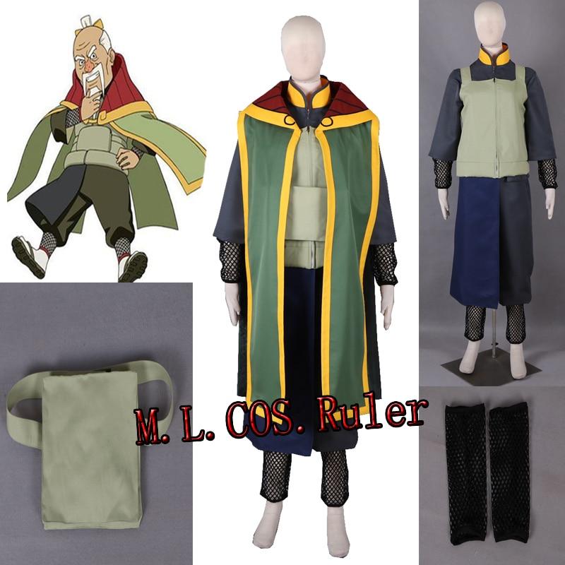 Anime Naruto The Third Tsuchikage Onoki Cosplay Costume Custom Size Full Suit Custom Size