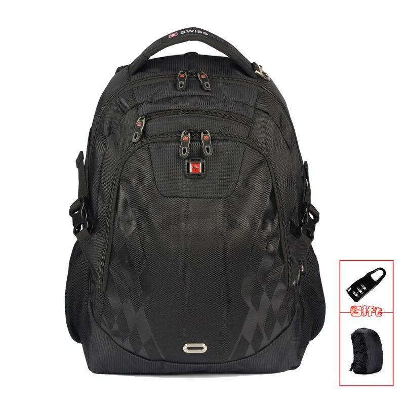 SWISSWIN brand Business Nylon backpack Black Female Male Military Computer Bag case luxury boy bag Mochila sac a dos SW6014V swisswin black business backpack sw9218 male swiss 15 6 computer swissgear wenger bag 23l mochila