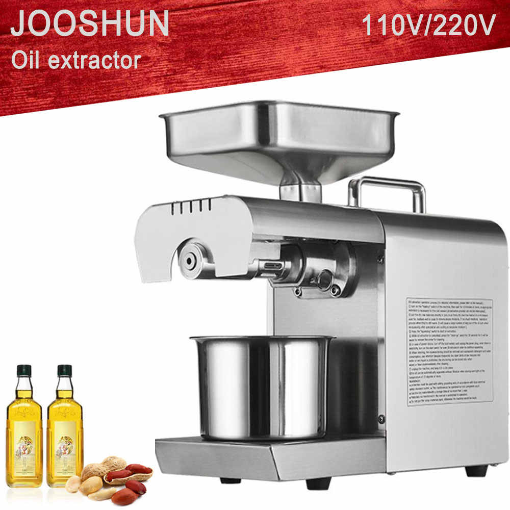 220V 110V Heat and Cold home oil press machine pinenut, cocoa soy bean olive oil press machine high oil extraction rate OPM-700