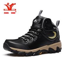 XIANG GUAN Genuine leather outdoor hiking shoes men Winter walking climbing outdoor trekking shoes non-slip athletic shoes 3588