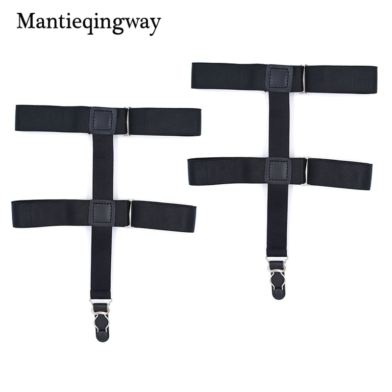 Mantieqingway Nylon Shirts Holders Suspensorio For Mens Elastic Business Garter Braces Adjustable Legs Shirts Suspenders Sales Of Quality Assurance Men's Accessories Apparel Accessories