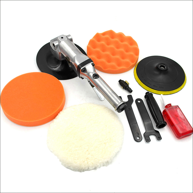 Pneumatic Tools Air Tools  7 inch 180mm Duty Right Angle Sanders Sponge Polishing Metal Polisher 7 Angle Sander Polisher Set 5 inch 125mm pneumatic sanders pneumatic polishing machine air eccentric orbital sanders cars polishers air car tools