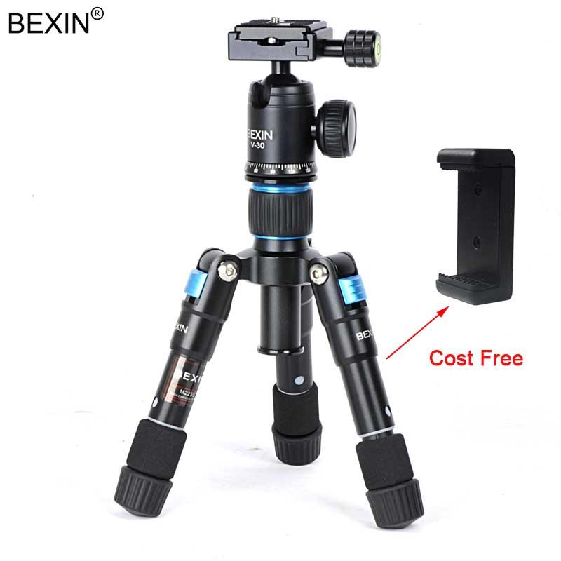 BEXIN CÁMARA DE VIAJE profesional fotografía Smartphone pesca trípode cabeza de bola Mini trípode soporte para cámara de teléfono