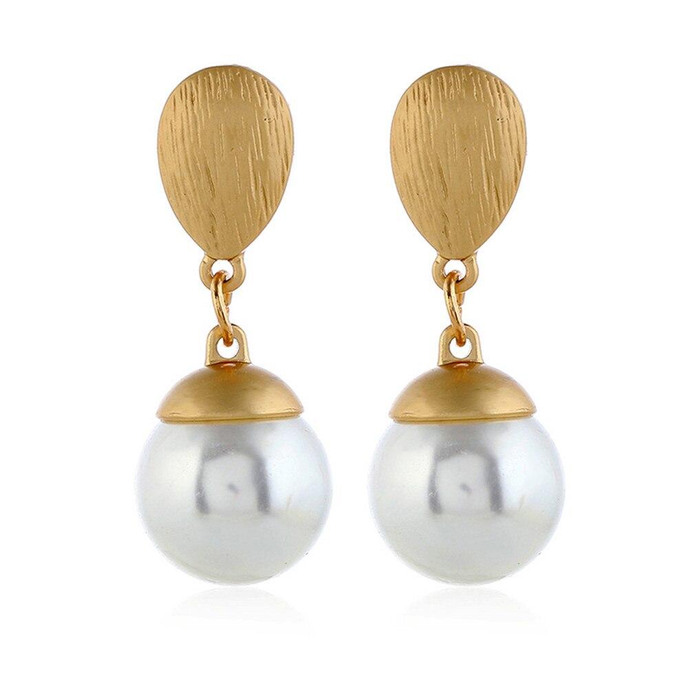 CRLEY freshwater pearl drop earrings for women geometric hanging dangle earrings delicate Drop Earing modern Jewelry Aros Aretes in Drop Earrings from Jewelry Accessories