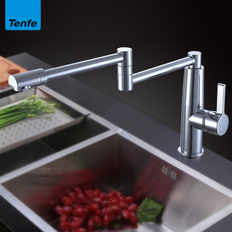 304 stainless steel kitchen sink faucet 360 degree rotating folding hot and cold water faucet304 stainless steel kitchen sink faucet 360 degree rotating folding hot and cold water faucet