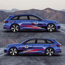 World Datong sport auto stickers For Audi A4 S4 RS4 Auto Body Customized Decal Exterior Accessories