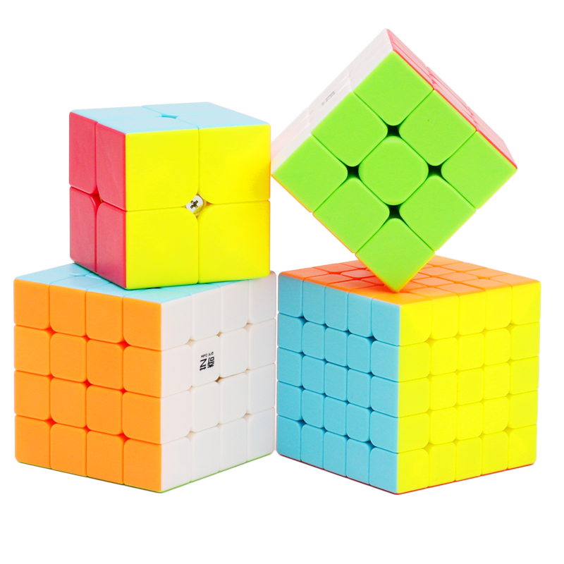 Qiyi 2x2x2 3x3x3 4x4x4 5x5x5 Magic Cube Professional Speed Puzzle Cube Training Brain To ...