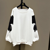 Long Sleeve Tshirt Women Cotton Casual Knitted Cloth Solid O neck Batwing New Style Loose