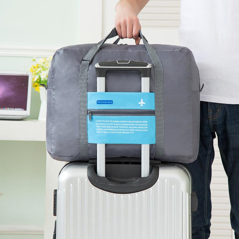 Portable Luggage Travel Handbags Nylon WaterProof Women Travel Bag Large Capacity Bag Folding Bag Unisex Men Travel Bags цена 2017