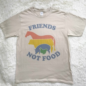 Hillbilly Friends Not Food T-shirt Vintage Tshirt Tee Gift for Vegan Shirt Vegetarian Natural Cute Tops Hippie 70s 80s 90s Tops