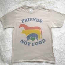 7b2a18c80 Hillbilly Friends Not Food T-shirt Vintage Tshirt Tee Gift for Vegan Shirt  Vegetarian