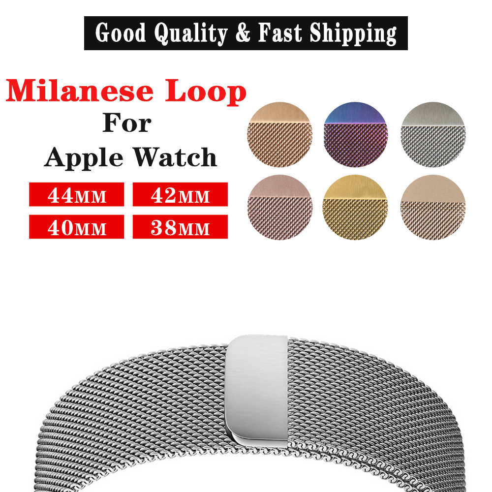 MAIKES אפל שעון להקת 44mm 40mm ממילאנו לולאה מתכת רצועת השעון עבור אפל שעון להקות 42mm נירוסטה iwatch רצועת 38mm