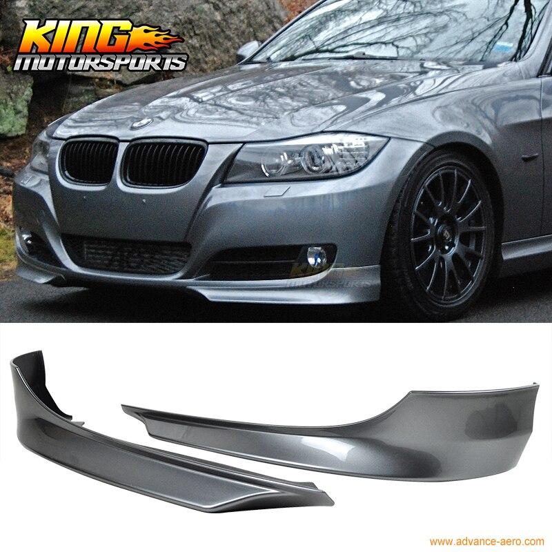 Pour 2009-2012 BMW E90 séparateur de lèvre de pare-chocs avant peint espace gris # A52